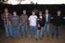 Holding their regional championship trophy are members of the 2012 national champion shotgun team at Southeastern Illinois College:  l-r, Ethan Hastie, Elizabethtown; Preston Crandall, Paris, Ill.; Austin, LeBaron, Harrisburg; Ben Wallace, Harrisburg; Jesse Patterson, Greenbrier, Ga.; Cory Stamper, Scott County, Ky.; and Matt Perkins, Harrisburg.