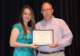 Alexandria Bennett of Eldorado accepts the John B. Dotson Memorial Scholarship from presenter Sonny Dotson.