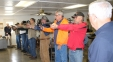 SIC instructors Kerry Jones (right) and Dwight Howton (left) take participants through an intruder drill during an Illinois Concealed Carry course held at the Harrisburg Hunters' Club on Nov. 14.