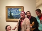 Art students and Instructor Sara DeNeal, are excited to see the real Vincent Van Gogh's Starry Night in person.  Pictured (l-r) are Christina Jackson of Rosiclare, Tiffany Day of Harrisburg, DeNeal, and Autumn Pritchett of Galatia.
