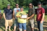 The four-man team (left to right) of Stephen Lane (Connelton), Steve Herrmann (Tell City), Scott Henze (Evansville), and Michael Fenn (Tell City) arrowed 291.8 pounds of invasive fish over the weekend to win the first annual Southeastern Illinois College Foundation Big 20 Bow Fishing tournament.