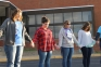 SIC students and members of B.A.S.I.C. come together for the annual global event, See You At The Pole.  Pictured (l-r) are Emily Green of Golconda, Callie Smith of Eldorado, Lexi Glore of Eldorado and Lacy Bradley of Raleigh.