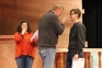 Director Allan Kimball gives Doris and Fred (Callie Smith of Eldorado and Jordan Richey of Benton) a little creative direction during an early rehearsal of Miracle on 34th Street.  The show runs Dec. 1 and 2 at 7 p.m. and Dec. 3 at 2 p.m.