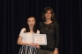 Clarissa Tjoanda of Harrisburg received the Sam Porter Freshman Chemistry Awards presented by Kim Martin, SIC math instructor.  <br />