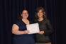 Jessica Lukancic of Harrisburg received the Sam Porter Sophomore Chemistry Awards presented by Kim Martin, SIC math instructor.