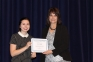 Skylar Edmister of Eldorado was awarded the Madeline Dempsey Allied Health Scholarship, presented by Amy Murphy, director of allied health.