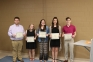 Members of the SIC Student Government executive board honored with the Student Government Service Award include (l-r) Alex McRoy (student trustee), Micaylen Wolf (vice president), Briley Hankins (treasurer), Bridget Payne (secretary) all of Harrisburg and Jordan Richey of Benton (president).