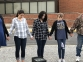 Kayla DePriest of Harrisburg, Destiney Beasley of Shawneetown, and Shanna Rone of Carrier Mills participate in SYATP at SIC.